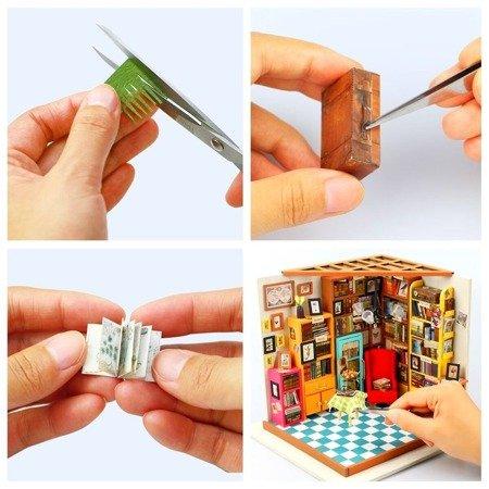 ROBOTIME Składany Malowany Model Mini Biblioteka